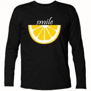 Koszulka z długim rękawem Smile lemon