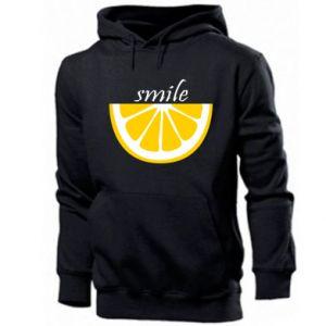Męska bluza z kapturem Smile lemon