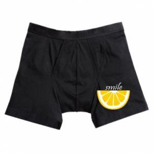 Bokserki męskie Smile lemon