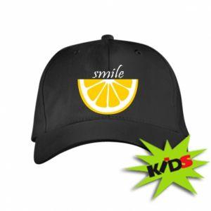 Czapeczka z daszkiem dziecięca Smile lemon