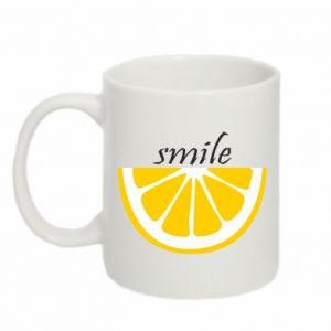 Kubek 330ml Smile lemon