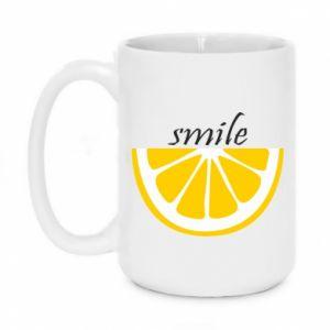 Kubek 450ml Smile lemon