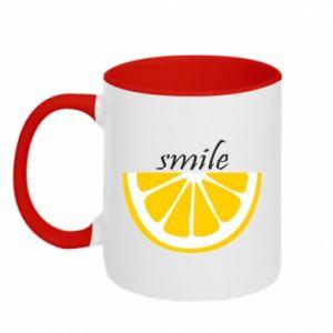 Kubek dwukolorowy Smile lemon