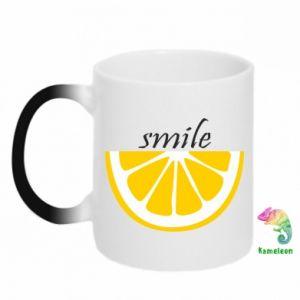 Kubek-magiczny Smile lemon