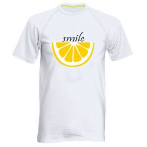 Koszulka sportowa męska Smile lemon