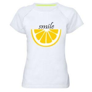 Koszulka sportowa damska Smile lemon