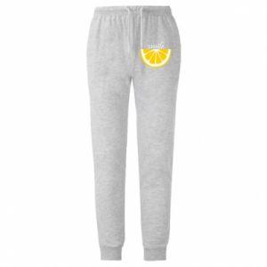 Spodnie lekkie męskie Smile lemon