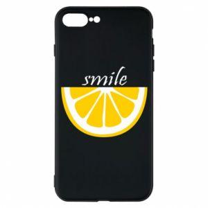 Etui do iPhone 7 Plus Smile lemon
