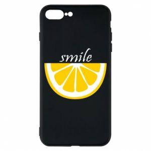 Etui na iPhone 8 Plus Smile lemon