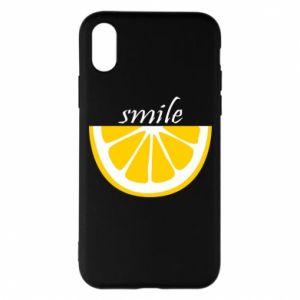 Etui na iPhone X/Xs Smile lemon