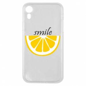 Etui na iPhone XR Smile lemon