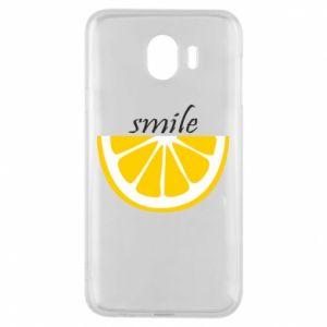 Etui na Samsung J4 Smile lemon