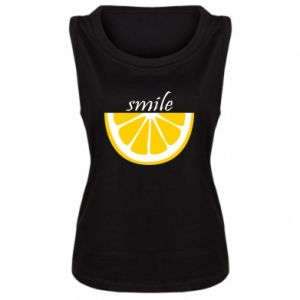 Damska koszulka bez rękawów Smile lemon