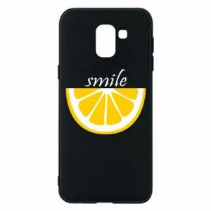 Etui na Samsung J6 Smile lemon