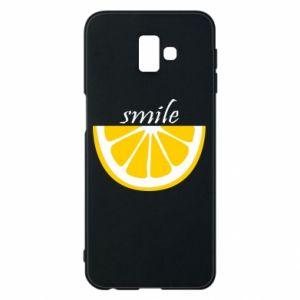 Etui na Samsung J6 Plus 2018 Smile lemon