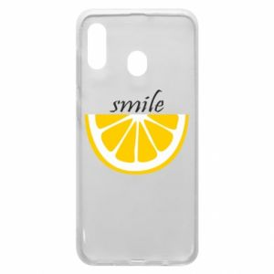 Etui na Samsung A20 Smile lemon