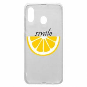 Etui na Samsung A30 Smile lemon