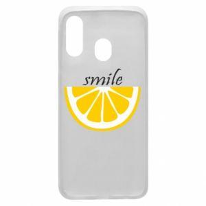 Etui na Samsung A40 Smile lemon