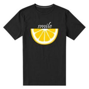 Męska premium koszulka Smile lemon