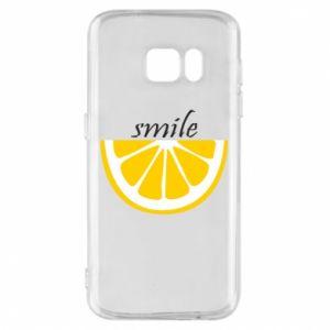 Etui na Samsung S7 Smile lemon