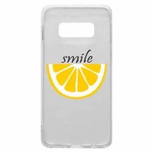 Etui na Samsung S10e Smile lemon