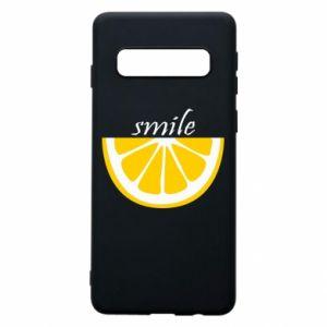 Etui na Samsung S10 Smile lemon