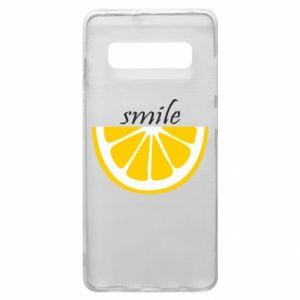 Etui na Samsung S10+ Smile lemon