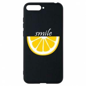 Etui na Huawei Y6 2018 Smile lemon
