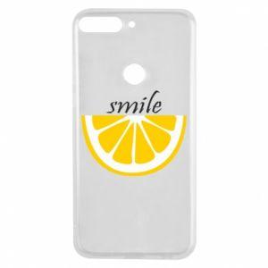Etui na Huawei Y7 Prime 2018 Smile lemon