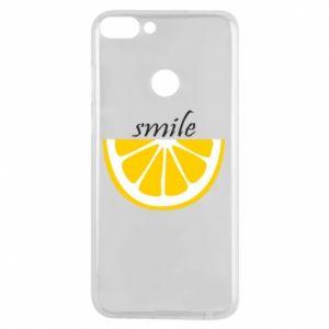 Etui na Huawei P Smart Smile lemon