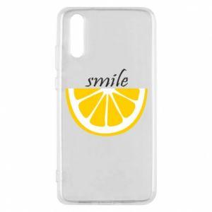 Etui na Huawei P20 Smile lemon