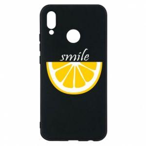 Etui na Huawei P20 Lite Smile lemon