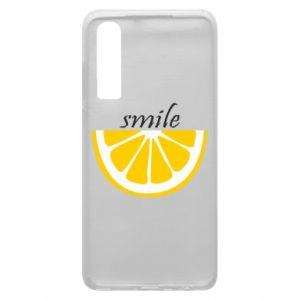 Etui na Huawei P30 Smile lemon