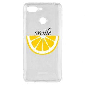 Etui na Xiaomi Redmi 6 Smile lemon