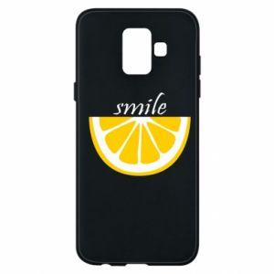 Etui na Samsung A6 2018 Smile lemon