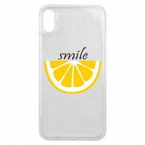 Etui na iPhone Xs Max Smile lemon