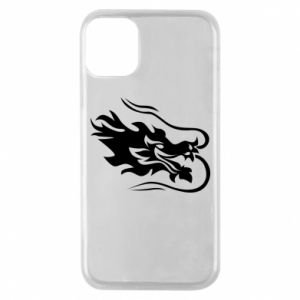 Phone case for iPhone 11 Pro Dragon with fire