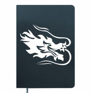 Notepad Dragon with fire