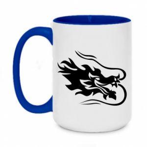 Two-toned mug 450ml Dragon with fire