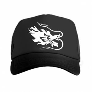 Trucker hat Dragon with fire