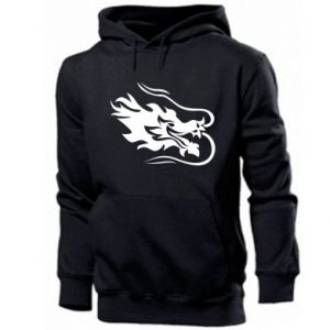 Men's hoodie Dragon with fire