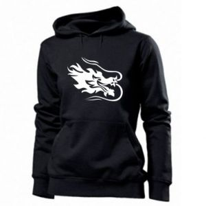 Women's hoodies Dragon with fire