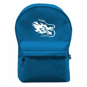 Backpack with front pocket Dragon with fire