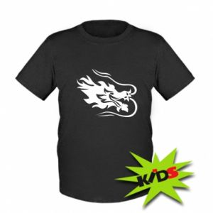 Kids T-shirt Dragon with fire