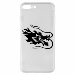 Phone case for iPhone 7 Plus Dragon with fire