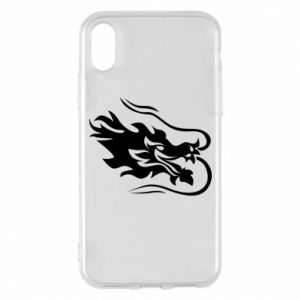 Phone case for iPhone X/Xs Dragon with fire
