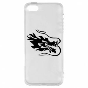Phone case for iPhone 5/5S/SE Dragon with fire