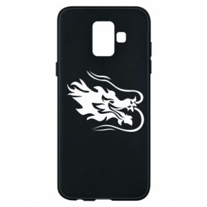 Phone case for Samsung A6 2018 Dragon with fire