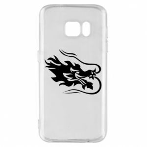 Phone case for Samsung S7 Dragon with fire