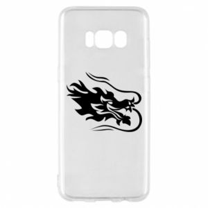 Phone case for Samsung S8 Dragon with fire